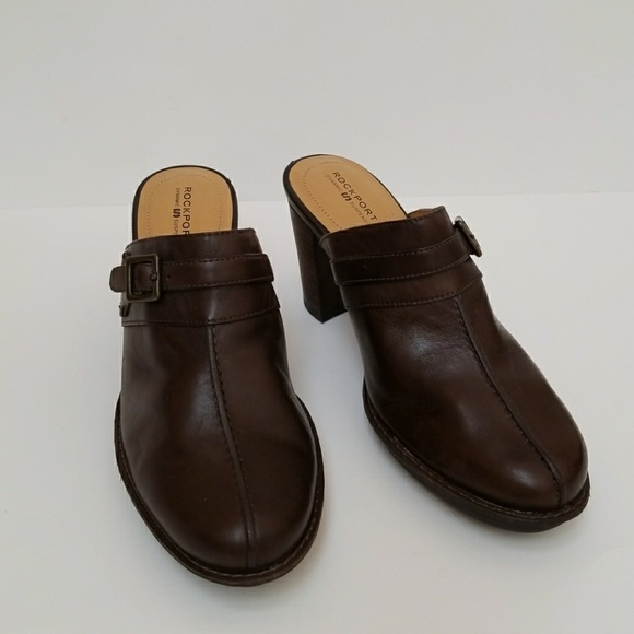 Rockport Shoes - Rockport Leather Mules